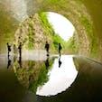 新潟県清津峡渓谷 この日は雨。紅葉の時期にもう一度行きたい場所です。