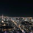 六本木ヒルズの屋上、東京シティビューからの景色! 空気も澄んでいて、綺麗な夜景が見れました♪