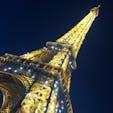 2018.10.4 エッフェル塔(フランス) 見上げていたら突然キラキラ光り出しました。