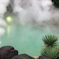 鉄輪温泉(別府) 海地獄というには似つかわしくない、なんとも言えない澄んだコバルトブルー