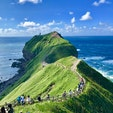 北海道 神威岬。 日本とは思えない大陸系の雄大な自然です😆 積丹のウニが美味しいですよね😊