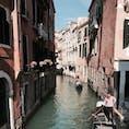 2018.10 水の都ヴェネツィア。 ゴンドラと細い水路。 いつかは沈んでしまうかもしれない街の風景。