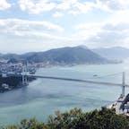 関門橋を山口県の丘から。