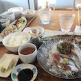 雄島の見えるレストラン「おおとく」さんでランチ。 メニューも豊富で美味しくて景色も良くて大満足❣️