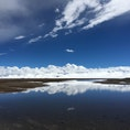チベット、ナムツォ湖(標高4718m) 空が近い!