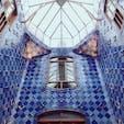 青のタイルが綺麗でした❄︎ #スペイン #バルセロナ #カサ・バトリョ #アントニオ・ガウディ
