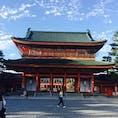 平安神宮[京都]  ロームシアター京都でのライブ前に参拝。  応天門が立派で綺麗でした。  桜の季節にも行きたいな(^^)