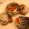 東京の石頭楼アネックスにて上海蟹を。福井で食べるセイコガニと似てる。美味しいが、とにかく食べづらい😣 #上海蟹
