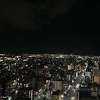 AERにのぼると仙台の夜景が一望できました🌃