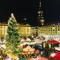 ドイツのドレスデン🇩🇪 クリスマスマーケットが本当にキレイで感動、ちょっと寒いけどオススメです🎄