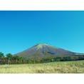 晴天と大山!! 雲ひとつなくてきれいでした!