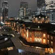 夜の東京駅は昼間とは違った雰囲気があります。