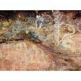 🇦🇺Ayers Rock エアーズロック内にあるアボリジニによる壁画。 1個1個の絵の意味を知ると、柄とリンクしていてなるほどな。と頷ける。