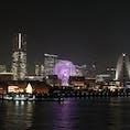 大さん橋から見たみなとみらいの夜景は絶景です♪