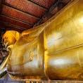 タイ🇹🇭、バンコクのWat Phoにある黄金の涅槃像。全長46m!見応えあります。