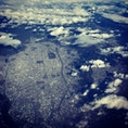 機窓からの京都