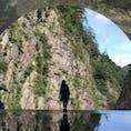 2018.8 清津峡渓谷トンネル 今年は大地の芸術祭の年でした。 開門すぐに行ったのですが、人気スポットだけに混雑。