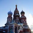 -13℃雪の聖ワシリイ大聖堂。