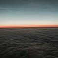 #雲海 #夕焼け #フランクフルト のほぼ上空