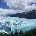 アルゼンチン側パタゴニア地方 ロスグラシアーレス国立公園のペリトモレノ氷河。地球温暖化が進む中で唯一後退しない氷河。