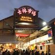台北の士林夜市。物凄い人、人、人。