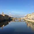 2018.10 ヴェッキオ橋から眺めるフィレンツェの街並み。