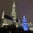 ブリュッセルのグランプラス 世界で最も美しい広場でのクリスマスマーケット