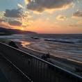 島根のキララビーチの夕日