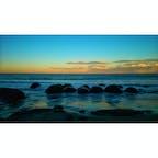 Such a beautiful twilight @Moeraki Boulders in NZ