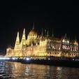 ハンガリーの国会議事堂 ドナウ川クルーズにて