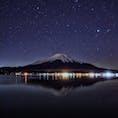 山中湖の星と富士山