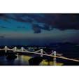 亀老山展望台から見る瀬戸大橋