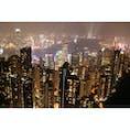 香港🇭🇰 ビクトリアピークから香港島の眺め。