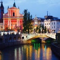 クロアチアのお隣 スロベニア🇸🇮 三本橋 リュブリャナのシンボルの1つです♪ リュブリャニツァ川に架かっている橋です♪ #三本橋 #Tromostovje #スロベニア