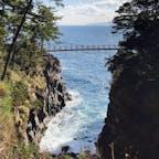 城ヶ崎海岸 橋から見る景色も綺麗だった