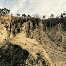 徳島県 阿波の土柱 自然の摂理によって作り出された土柱は神秘的でした。夜はライトアップもされているらしい。