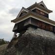 熊本城戌亥櫓  角をわずかに支えている石垣。応援してます!