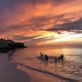 キューバ。バラデロの夕陽です。