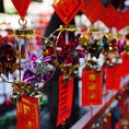 #マカオ #媽閣廟 日本でいう絵馬みたいな役割? 短冊部分にみんなの想いが。