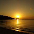 底地ビーチの夕日🌇