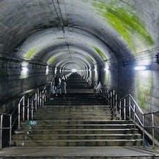 群馬県、土合駅  上まで486段あります。