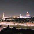 夜のミケランジェロ広場からの景色♡