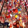 名古屋マリオットホテルで 今年も吊るし雛が飾られてます。
