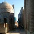 ウズベキスタン。シャーヒズィンダ廟。青の世界がとても美しいです。