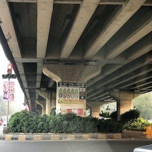 ムンバイの朝の高架
