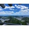 金華山にある岐阜城からの景色✨  晴れている日はこれくらい遠くまで透き通って見えます。 意外と、穴場スポット