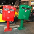 台北市内のポスト 台風で傾いたけど、かわいいとそのまま修理せずに使われているそうです。