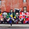 New York/Williamsburg Brooklyn  アンディ・ウォーホルとバスキアの壁画は、アーティストのKobraの作品。大迫力です♪
