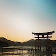 大干潮の広島・厳島神社 干潮の厳島神社も珍しくて、綺麗ですね
