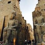エジプト。ルクソール神殿① エジプトはピラミッドだけではありません。すごい遺跡がたくさんあります。